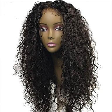 שיער אנושי חלק קדמי תחרה ללא דבק / חזית תחרה פאה שיער ברזיאלי מתולתל פאה 130% עם שיער בייבי / שיער טבעי / לא מעובד קצר / בינוני / ארוך פיאות תחרה משיער אנושי / מסולסל