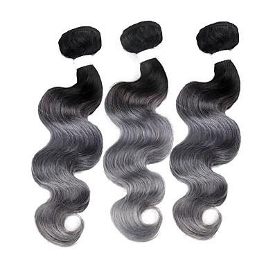 baratos Extensões de Cabelo Natural-3 pacotes Cabelo Brasileiro Onda de Corpo 10A Cabelo Natural Remy Âmbar Tramas de cabelo humano Extensões de cabelo humano