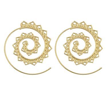 בגדי ריקוד נשים עגילי טיפה - פשוט, בסיסי זהב עבור יומי פגישה (דייט)