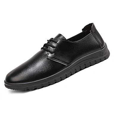 בגדי ריקוד גברים נעליים PU אביב / סתיו נוחות נעלי אוקספורד שחור / קפה / חום