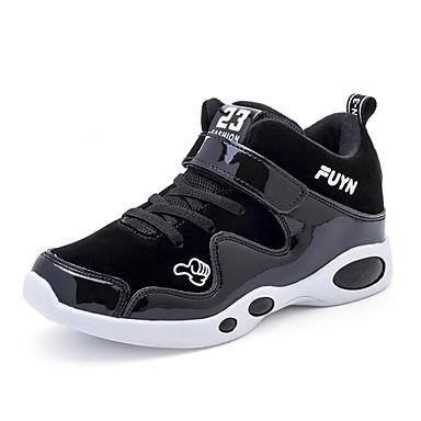 בנים / בנות נעליים עור חזיר אביב / סתיו נוחות נעלי אתלטיקה ל שחור / אדום / ריצה