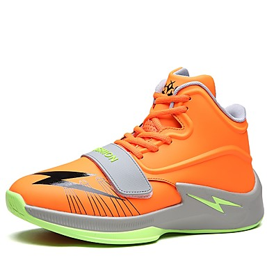 נעלי נוחות דמוי עור / PU קיץ / חורף נעלי אתלטיקה כדורסל שחור / כתום / אדום