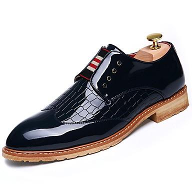 לבש נעליים PU אביב / סתיו נוחות נעלי אוקספורד בז' / אדום / כחול