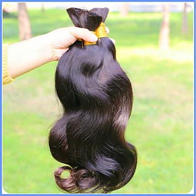 שיער בתולי שיער בתפזורת / מארג שיער / שזירה Remy  משיער אנושי טבעי / איכות מעולה / תוספות שיער הילה Body Wave שיער ברזיאלי 500 g יותר משנה אחת מקצועי