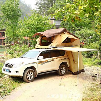 Deerke 4 איש אוהל-גג / משפחה אוהל קמפינג שכבה כפולה אוטומטי אוהל בקתה קמפינג אוהל שני חדרים חיצוני מוגן מגשם ל מחנאות / צעידות / טיולי מערות / לטייל / פיקניק 2000-3000 mm בד אוקספורד, אוקספורד