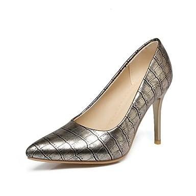 Mujer Zapatos Cuero Patentado / Semicuero Otoño Pump Básico Tacones Tacón Stiletto Dedo Puntiagudo Negro / Rojo / Almendra / Boda UxCmt