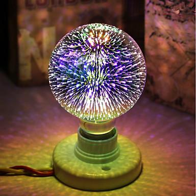 cheap LED Globe Bulbs-1pc 5 W LED Globe Bulbs LED Filament Bulbs 450 lm E26 / E27 G95 28 LED Beads Integrate LED Decorative Starry 3D Firework Multi-colors 85-265 V / RoHS