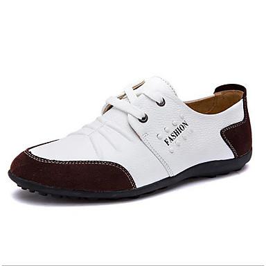 בגדי ריקוד גברים נעלי נוחות עור כל העונות נעלי אוקספורד שחור / צהוב / כחול