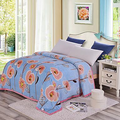 Super Soft,Printed Floral Polyester Blankets
