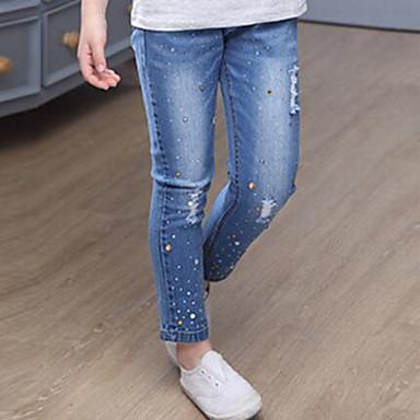 ג'ינס פרוות ארנב / כותנה אחיד פשוט בנות ילדים