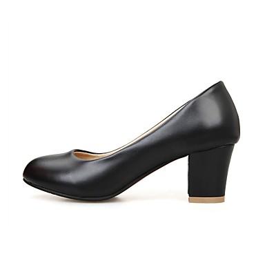 rond Noir Chaussures Blanc Femme Similicuir 06531287 Bout Chaussures Bottier Talon Escarpin Printemps Basique à Automne Rouge Talons 4q76qUATw