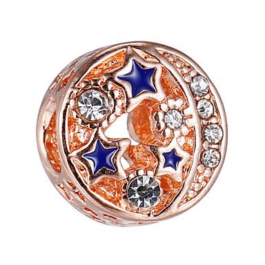 תכשיטים DIY 10 יח חרוזים אבן נוצצת סגסוגת זהב ורד עגול חָרוּז 0.45 cm עשה זאת בעצמך שרשראות צמידים
