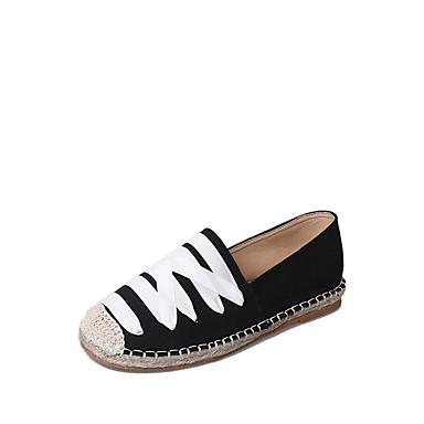 Women's Shoes Rubber Summer Comfort Sandals Walking Shoes Flat Heel White / Black