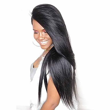 שיער אנושי חזית תחרה פאה שיער מלזי ישר פאה עם שיער תינוקות 120% שיער טבעי קצר / בינוני / ארוך פיאות תחרה משיער אנושי