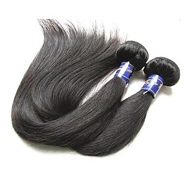 שיער בתולי / שיער ראמי / שיער אנושי שזירה Remy  משיער אנושי גבר מארג / לנשים שחורות / 9 א ישר שיער פרואני 200 g 12 חודשים