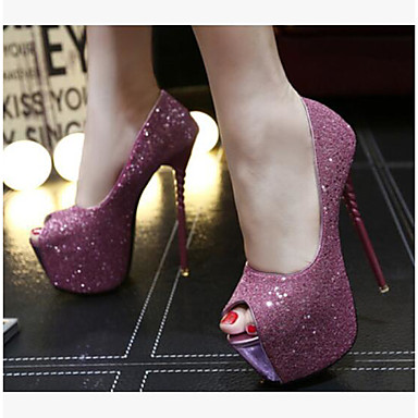 Talons Femme Talon Aiguille Confort Polyuréthane Bout Eté Chaussures 06532434 ouvert à Chaussures Noir Paillettes Rouge rTwg0xqr