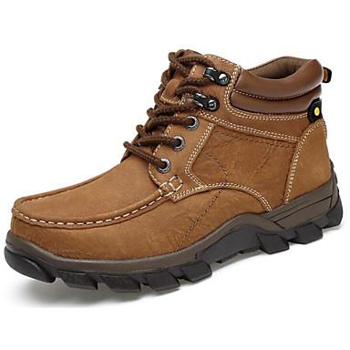 בגדי ריקוד גברים נעלי נוחות עור סתיו / חורף מגפיים מגפונים\מגף קרסול חום בהיר / חום כהה / חאקי / מגפיי קרב