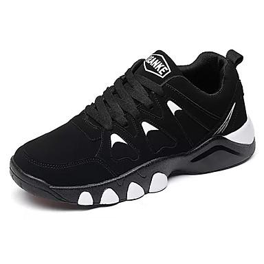 בגדי ריקוד גברים נעליים PU אביב / סתיו נוחות נעלי אתלטיקה ריצה שחור / אדום / כחול