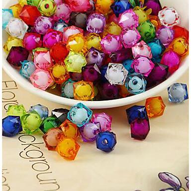 תכשיטים DIY 500 יח חרוזים אקרילי קשת ריבוע חָרוּז 1 cm עשה זאת בעצמך שרשראות צמידים