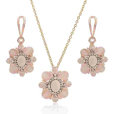 958d342e5 Women's Opal Jewelry Set Opal, Imitation Diamond Flower Ladies, Classic,  Fashion Include Drop Earrings Necklace Gold For Daily