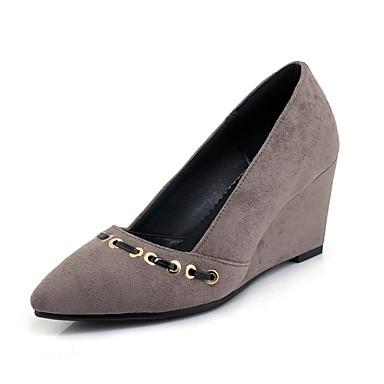 0deb32f560 Women's Shoes Fleece Spring / Summer Comfort Heels Wedge Heel Gray / Red /  Green / Party & Evening / Dress / Party & Evening