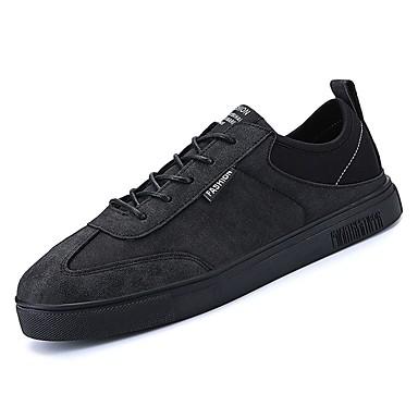 בגדי ריקוד גברים PU סתיו נוחות נעלי ספורט שחור / אפור / חום