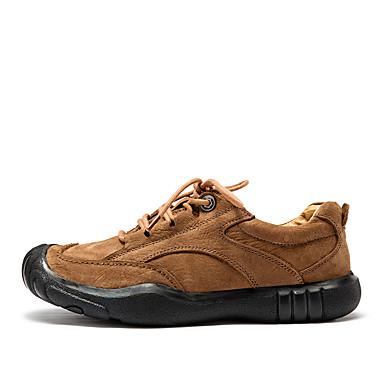 נעליים עור אביב סתיו נוחות נעלי ספורט ל קזו'אל שחור חום חאקי