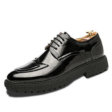 בגדי ריקוד גברים נעלי נוחות גומי אביב / סתיו נעלי אוקספורד לבן / שחור / בָּחוּץ