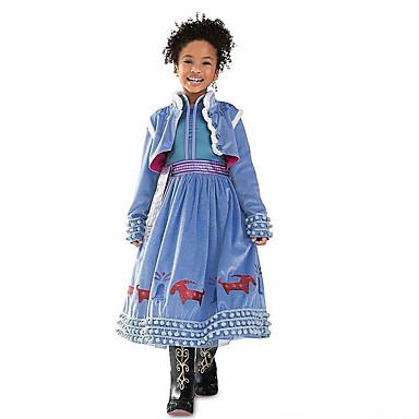 שמלה כותנה פוליאסטר סתיו כל העונות שרוול ארוך Party ליציאה אחיד הילדה של חמוד פעיל פול