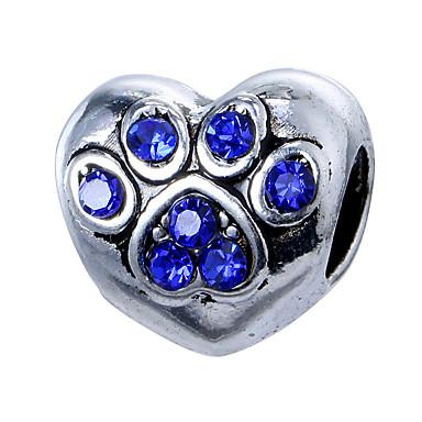 תכשיטים DIY 10 יח חרוזים סגסוגת סגול ורוד פנינה אדום כחול בהיר כחול ים לב חָרוּז 0.45 cm עשה זאת בעצמך שרשראות צמידים