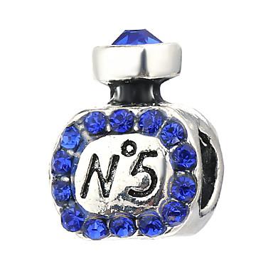 תכשיטים DIY 10 יח חרוזים אבן נוצצת סגסוגת סגול ורוד פנינה ירוק כחול בהיר כחול ים צילינדר חָרוּז 0.45 cm עשה זאת בעצמך שרשראות צמידים