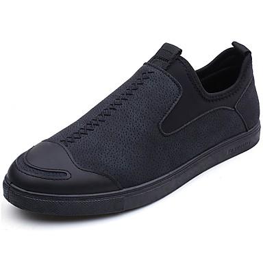 נעליים PU אביב סתיו נוחות נעליים ללא שרוכים ל בָּחוּץ שחור אפור