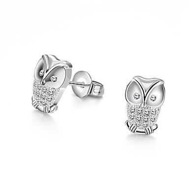 billige Moteøreringer-Dame Krystall Øredobber Magic Back Earring Ugle damer Mote øredobber Smykker Sølv Til Bryllup Daglig