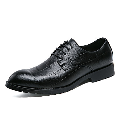 בגדי ריקוד גברים נעליים פורמליות דמוי עור אביב / קיץ נעלי אוקספורד שחור / אפור