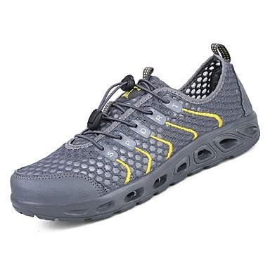 נעליים PU אביב סתיו נוחות נעלי אתלטיקה ל אתלטי כתום אפור כהה