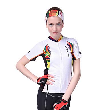 Nuckily Pyöräily jersey Naisten Lyhythihainen Pyörä Jersey Topit Ultraviolettisäteilyn kestävä Kosteuden läpäisevä Kiinteä vyölaukku
