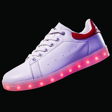 נעליים PU אביב סתיו נעליים זוהרות נוחות נעלי ספורט ל קזו'אל שחור אדום