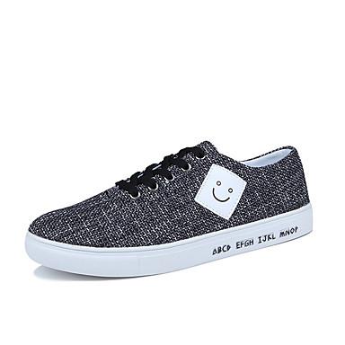 בגדי ריקוד גברים בד / PU אביב / סתיו נוחות נעלי ספורט שחור / אפור / כחול