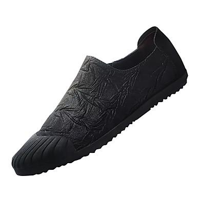 בגדי ריקוד גברים PU אביב / סתיו נוחות נעליים ללא שרוכים שחור / חום / חאקי