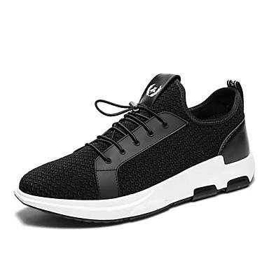 בגדי ריקוד גברים / יוניסקס נעליים PU חורף נוחות נעלי אתלטיקה שחור / כחול כהה / ריצה