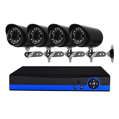 4-kanałowy system kamer bezpieczeństwa z 4ch 1080n ahd dvr 42.0mp odpornych na warunki pogodowe kamer z noktowizorem
