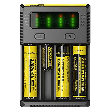 billige Lommelykter & campinglykter-Nitecore NEW-I4 Batterilader til Li-ion NI-CD Ni-MH Bærbar Profesjonell Kortslutningsvern Overladingsvern Plastikk