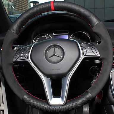 voordelige Auto-interieur accessoires-Auto-stuurhoezen aitoa nahkaa 38cm Voor Mercedes-Benz E klasse / C klasse / B200 Alle jaren