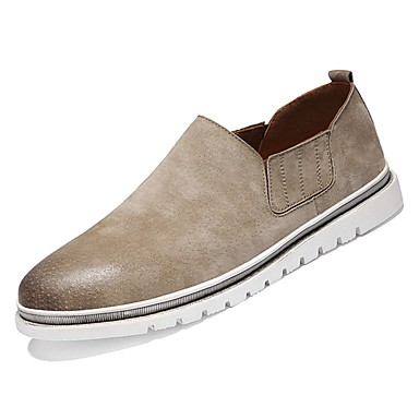 Shoes PU Casual Fall Comfort Sneakers for Casual PU Black Gray Brown Khaki 27698d