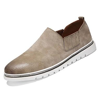 נעליים PU סתיו נוחות נעלי ספורט ל קזו'אל שחור אפור חום חאקי
