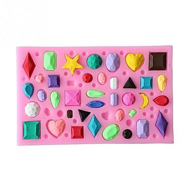 כלי Bakeware ג'ל סיליקה כלי אפייה / יום הולדת / חג האהבה Cake / לקבלת שוקולד / לעוגה עוגות Moulds 1pc