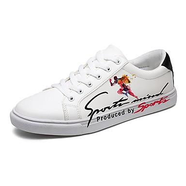 בגדי ריקוד גברים PU אביב / סתיו נוחות נעלי ספורט שחור / אדום / לבן וכחול