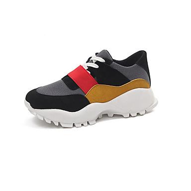 PU אביב נוחות נעלי ספורט שטוח בוהן עגולה אדום / כחול