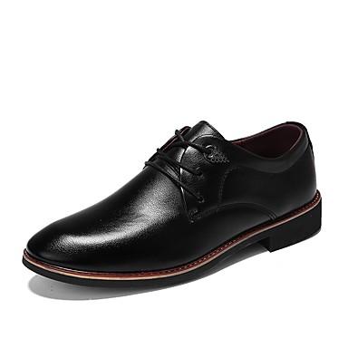 בגדי ריקוד גברים נעליים גומי אביב / סתיו נוחות נעלי אוקספורד שחור / חום