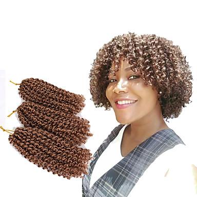 שיער קלוע מתולתל / מלי טוויסט צמות טוויסט 3pcs / Pack שיער צמות קצר הגעה חדשה
